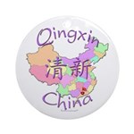 Qingxin China Map Ornament (Round)