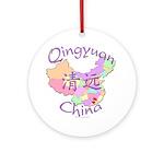 Qingyuan China Map Ornament (Round)