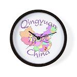Qingyuan China Map Wall Clock