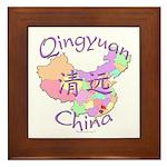 Qingyuan China Map Framed Tile