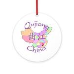 Qujiang China Map Ornament (Round)