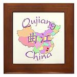 Qujiang China Map Framed Tile