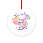 Sanshui China Map Ornament (Round)