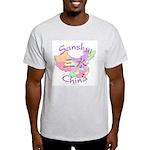 Sanshui China Map Light T-Shirt