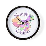Sanshui China Map Wall Clock
