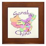 Sanshui China Map Framed Tile