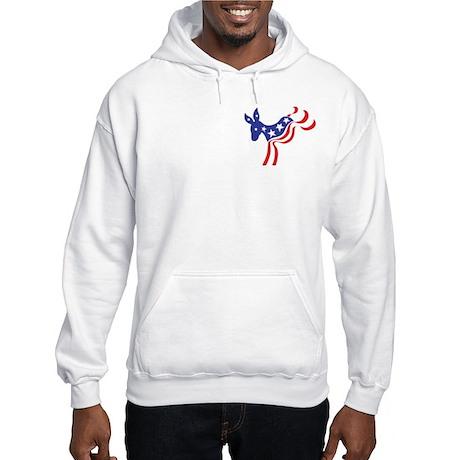 Patriotic democratic donkey Hooded Sweatshirt