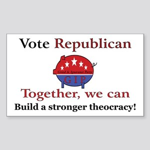 Theocratic Pig Rectangle Sticker