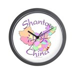 Shantou China Map Wall Clock