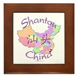 Shantou China Map Framed Tile