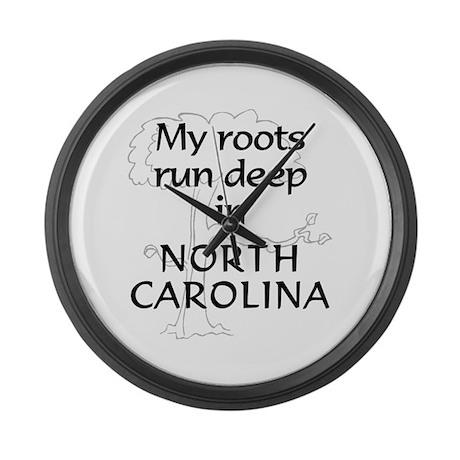 North Carolina Roots Large Wall Clock