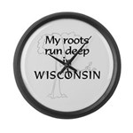 Wisconsin Roots Large Wall Clock