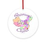 Shanwei China Map Ornament (Round)