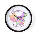 Shanwei China Map Wall Clock