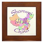 Shanwei China Map Framed Tile
