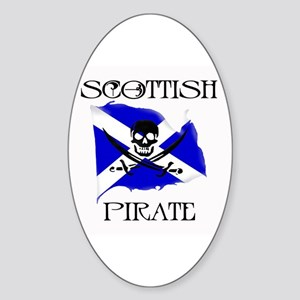 Scottish Pirate Oval Sticker