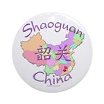 Shaoguan China Map Ornament (Round)