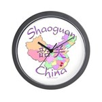 Shaoguan China Map Wall Clock