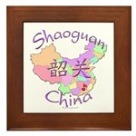 Shaoguan China Map Framed Tile