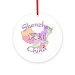 Shenzhen China Map Ornament (Round)