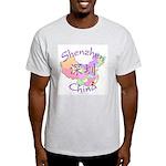 Shenzhen China Map Light T-Shirt