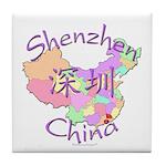 Shenzhen China Map Tile Coaster