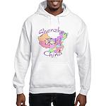 Shenzhen China Map Hooded Sweatshirt