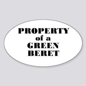 Property of a Green Beret Oval Sticker
