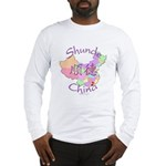Shunde China Map Long Sleeve T-Shirt