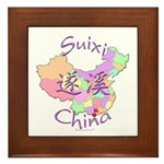 Suixi China Map Framed Tile