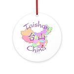 Taishan China Map Ornament (Round)