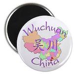 Wuchuan China Map Magnet