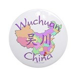 Wuchuan China Map Ornament (Round)