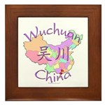 Wuchuan China Map Framed Tile