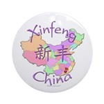 Xinfeng China Map Ornament (Round)