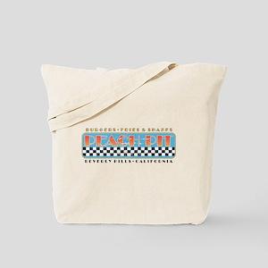Peach Pit Distressed Tote Bag