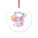 Xinhui China Map Ornament (Round)