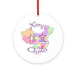 Xinyi China Map Ornament (Round)