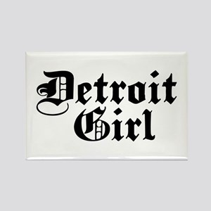 Detroit Girl Rectangle Magnet