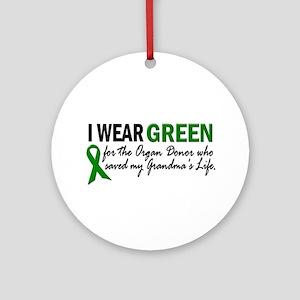 I Wear Green 2 (Grandma's Life) Ornament (Round)