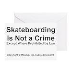 Skateboarding Greeting Cards (Pk of 10)