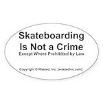 Skateboarding Oval Sticker
