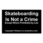 Skateboarding Rectangle Sticker