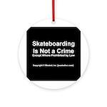 Skateboarding Ornament (Round)
