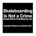 Skateboarding Tile Coaster
