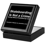 Skateboarding Keepsake Box
