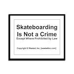 Skateboarding Framed Panel Print