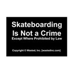 Skateboarding Mini Poster Print