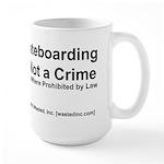 Skateboarding Large Mug