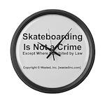 Skateboarding Large Wall Clock